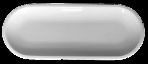 Platter, Stadium 14x5.625, White