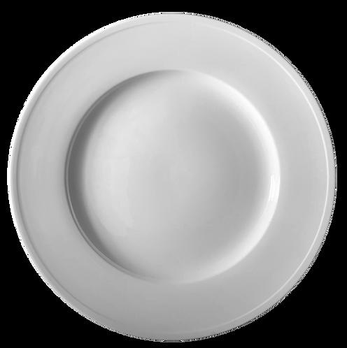 """Plate, Wide Rim, 11-1/2"""", White"""