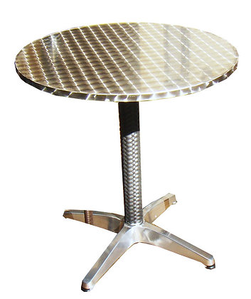 Stainless Steel Bar Table, Round, 28""