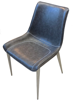Contemporary Side Chair with Stitched Seat