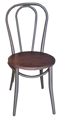 Cafe Chair with Round Wood Seat