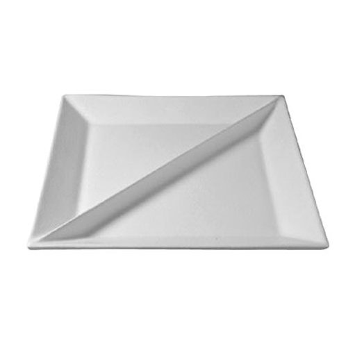 X Large Square Platter w/division, Granite Grey
