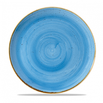 "Stonecast Evolve Coupe Plate 11.25"", Cornflower Blue"