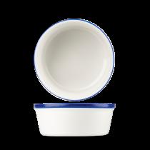 "WHBB RPDN - Retro Blue Round Pie Dish 5.25"""