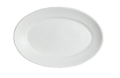 M Oval Platter White
