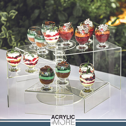 Acrylic 5-Tiers Circular Riser