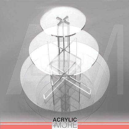 Acrylic Foldable 3 Levels Circular Display Riser Set