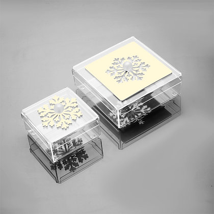 Combination snowflake square chocolate box
