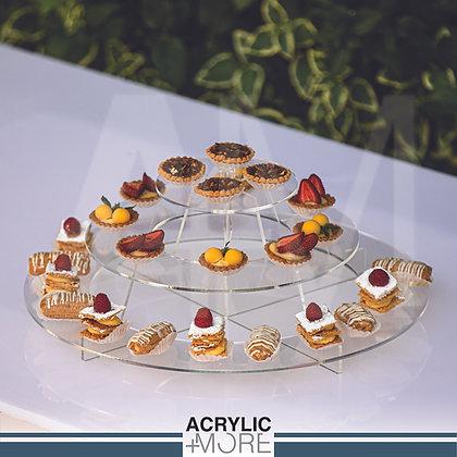 Acrylic 3-Tiers Cupcake Stand