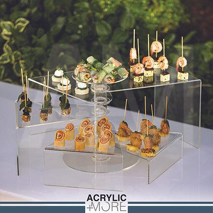 Acrylic circle riser 5 steps