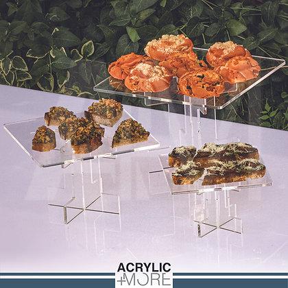 Acrylic Square Food Riser Set