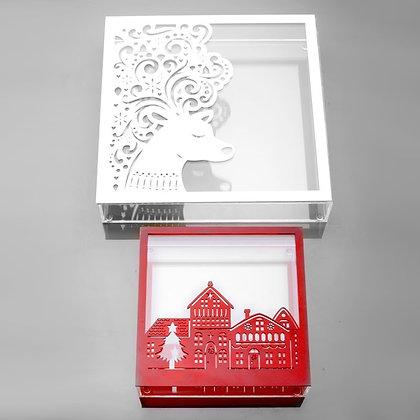 Elegant square chocolate box