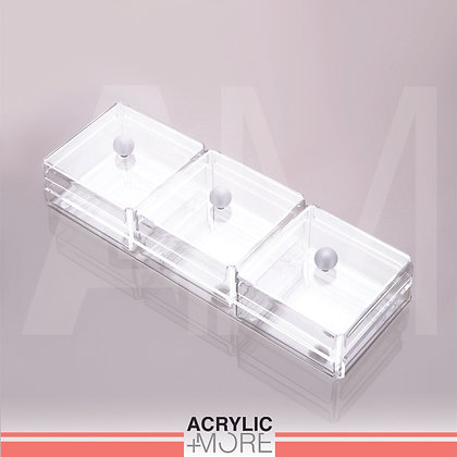 Acrylic Tray With 3 Boxes