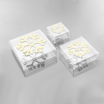 snowflake square chocolate box