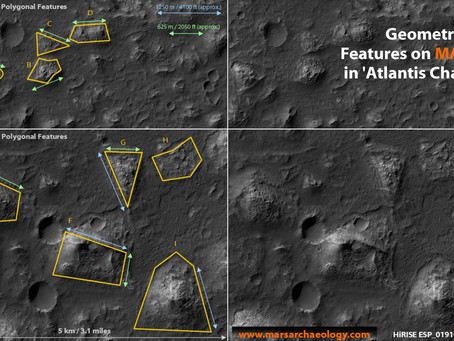 Geometrical Features on Mars, in 'Atlantis Chaos'
