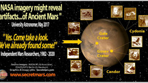 """NASA Imagery Might Reveal Artifacts of Ancient Mars"", says University Astronomer"