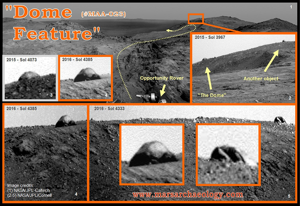 The Dome on Mars-Mars Archaeology Archive