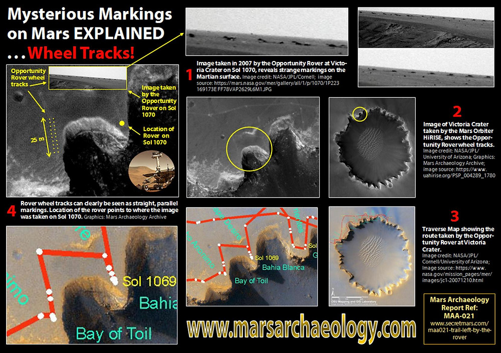 Mysterious Markings on Mars EXPLAINED ... Wheel Tracks!