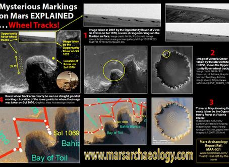 Mysterious Markings on Mars EXPLAINED: Wheel Tracks!