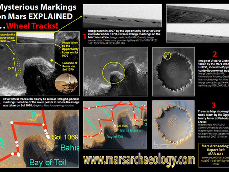 Mysterious Markings on Mars EXPLAINED: Wheel Tracks!