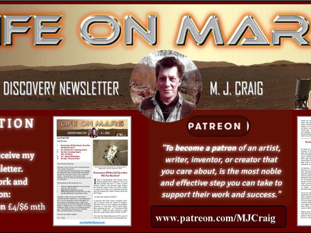 'Life on Mars Discovery Project': New Monthly Newsletter by M. J. Craig