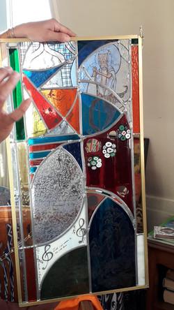 Création d'un vitrail avec différentes t