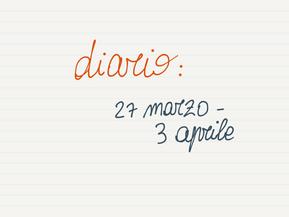 Diario: 27 marzo - 3 aprile