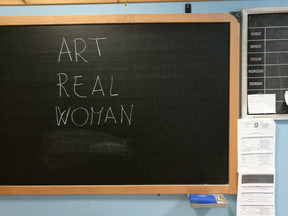 Art at times is a Real Woman