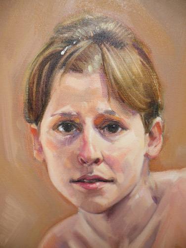 Nu, 2009, huile, détail