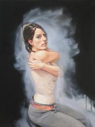 Annonciation 1, huile, 2015, 92x73 cm
