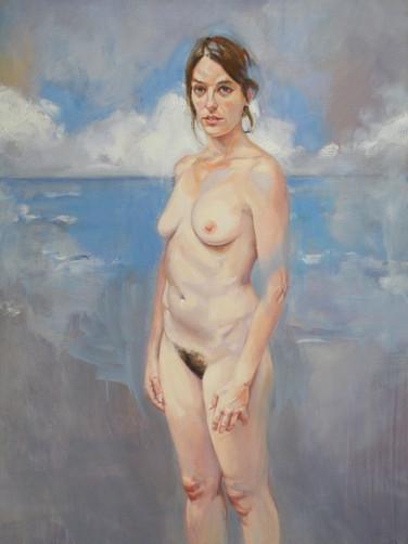Sans titre, huile, 2016, 100x73 cm