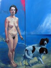 Huile , 2010, diptyque,150x100 cm