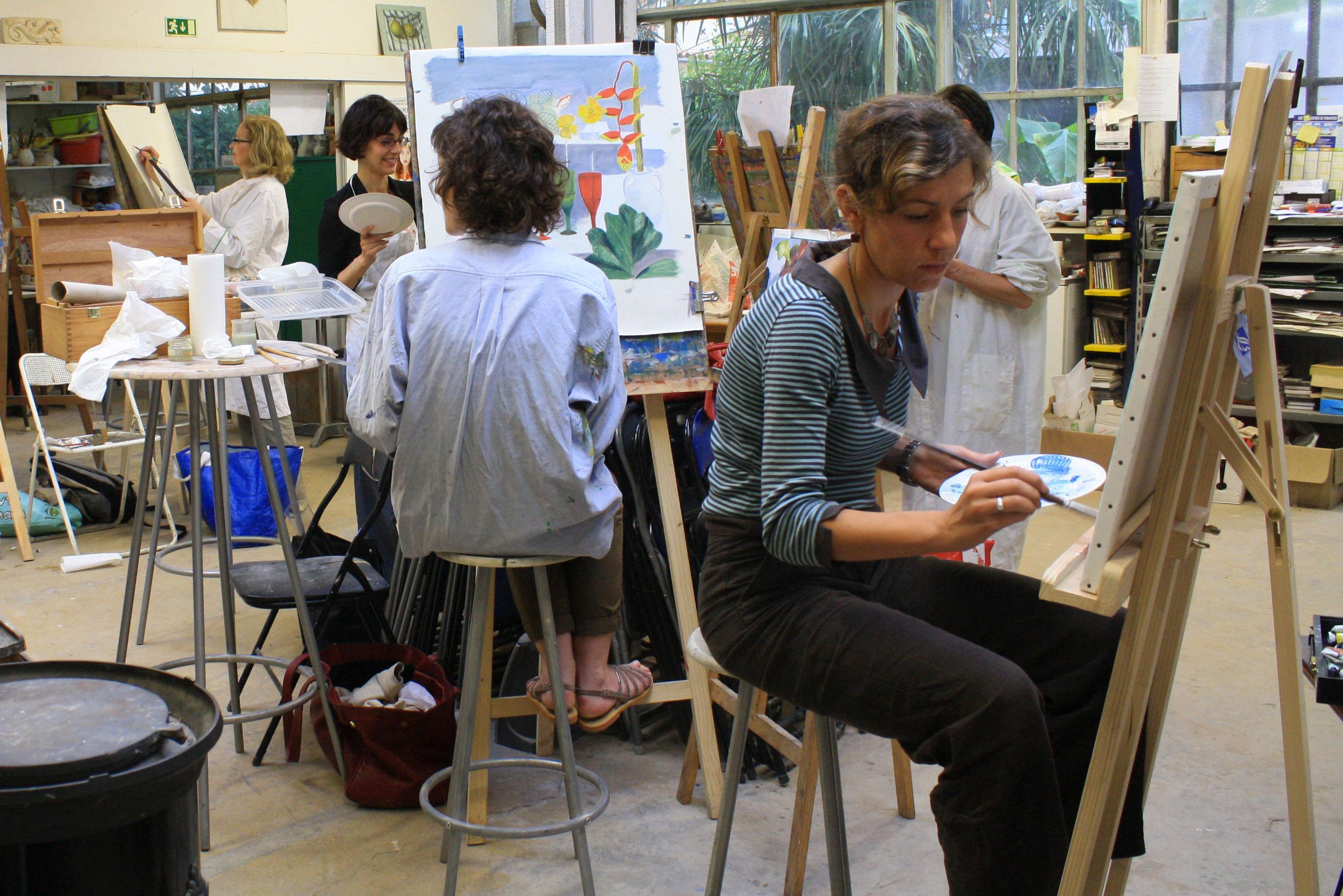 Cours de peinture, atelier Biz'Art