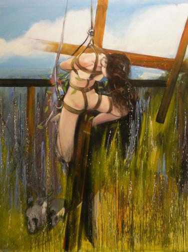Jeanne La Pucelle, 2020, huile sur toile