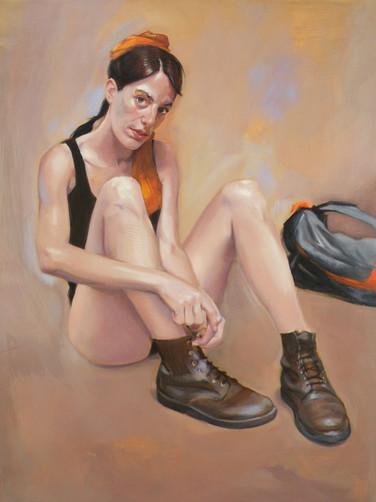 Nadja, huile, 2016, 81x65 cm