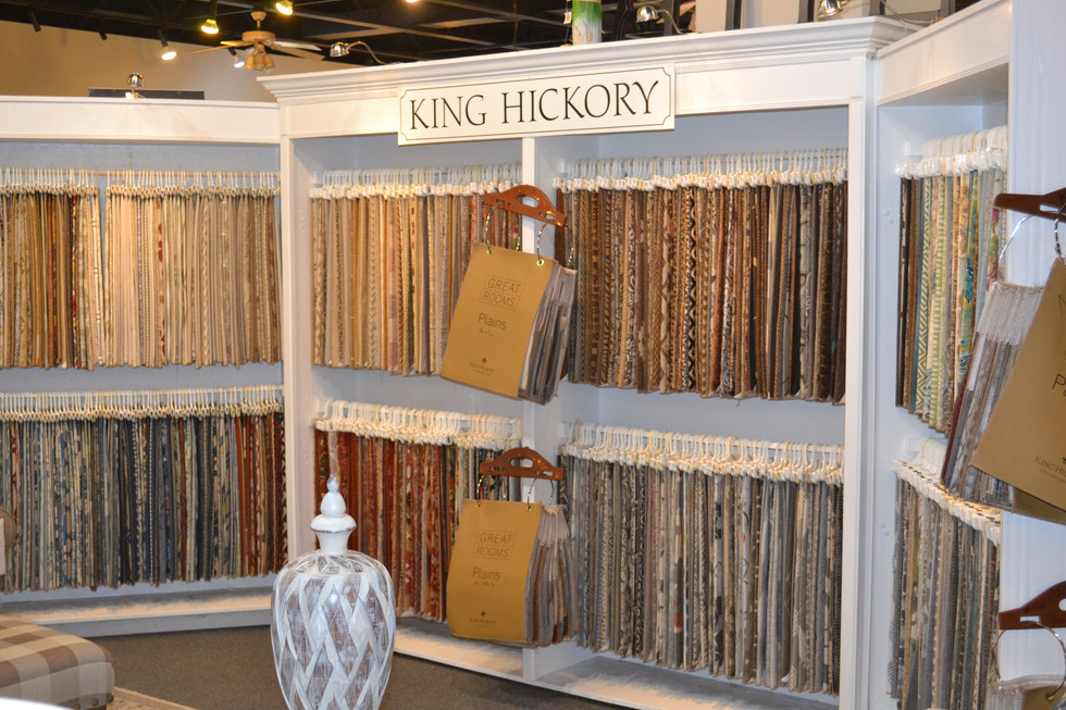 100's of fabrics to choose from! See what you can create with King Hickorys many options