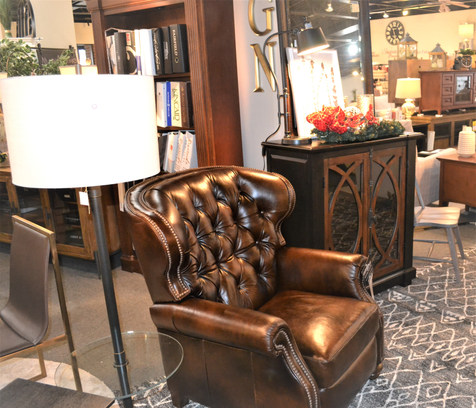 Klaussner's traditional recliner with accent chest