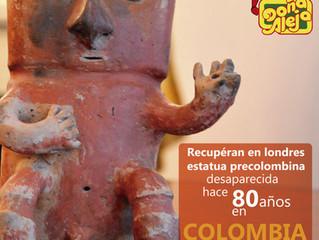Aparece estatua precolombina después de más de 80 años de haberse declarado Desaparecida.