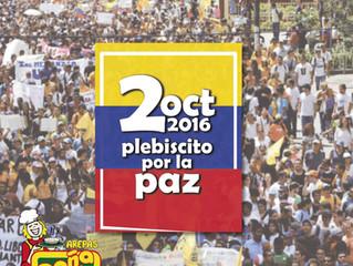 Votaciones para el plebiscito por la Paz.