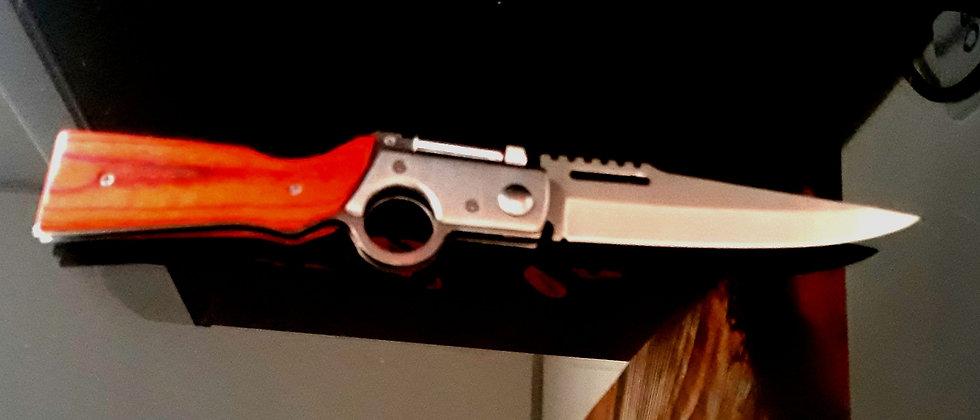 Canivete Automático Gigante com trava e Lanterna mais Caldre
