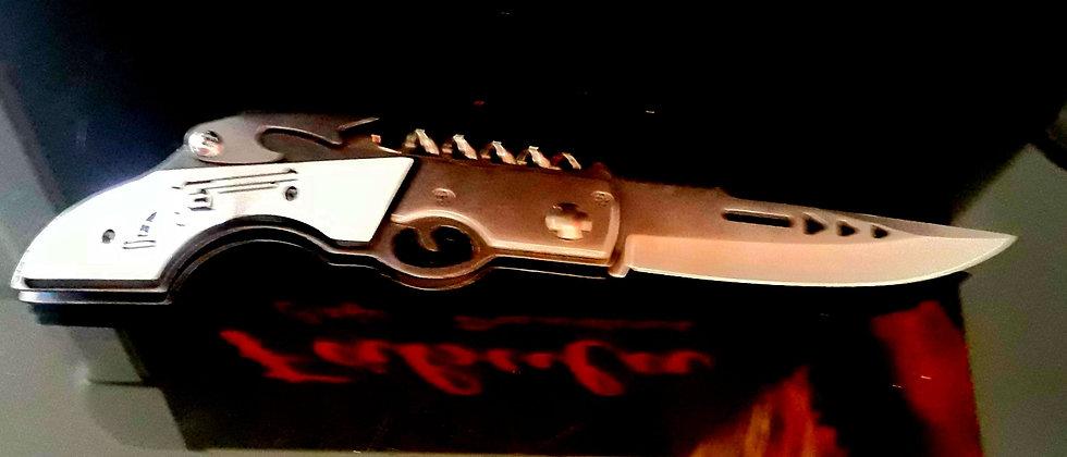 Canivete Automático Pesca Aço Inox