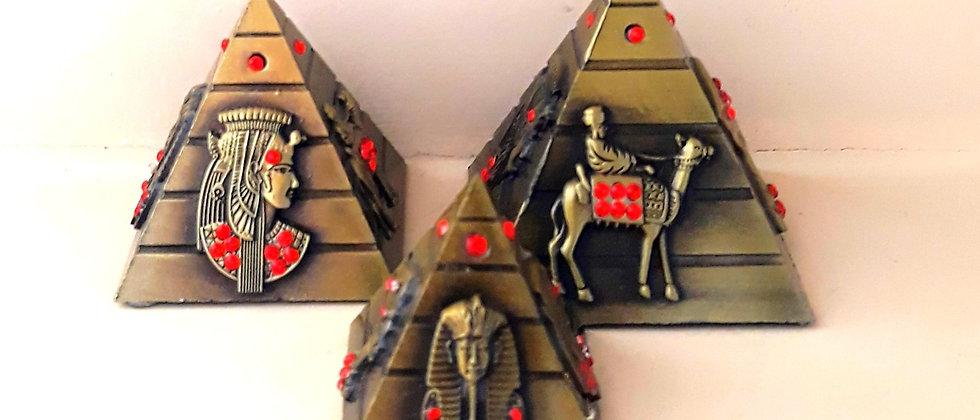 kit 3 Pirâmides Egípcias de metal