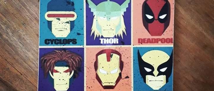 Placa Heróis Marvel