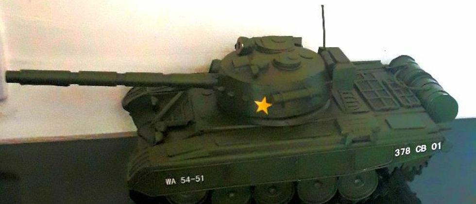 Miniatura de tanque canhão metal