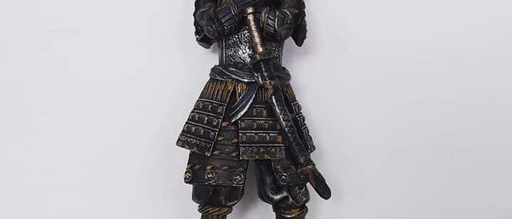 Samurai Guerreiro Medieval Resina 41 cm