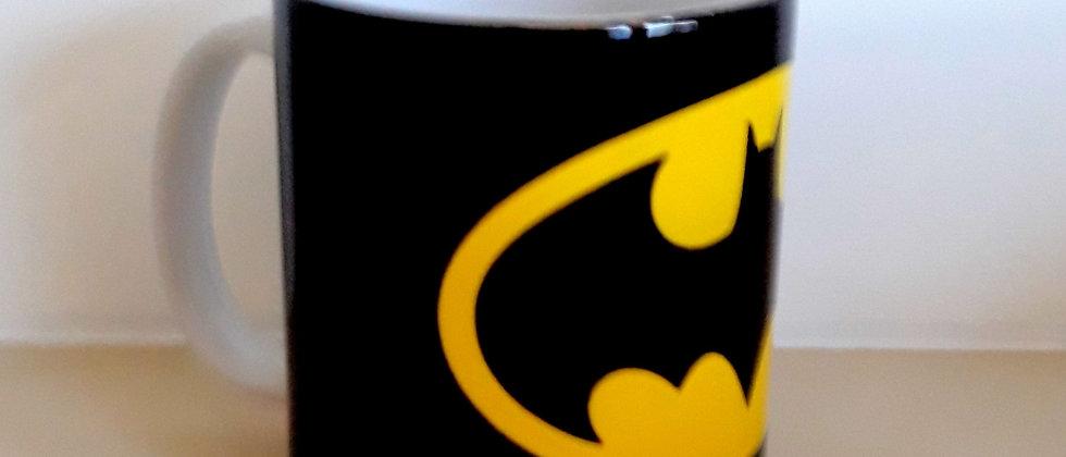 Caneca Branca Porcelana Batman Logo