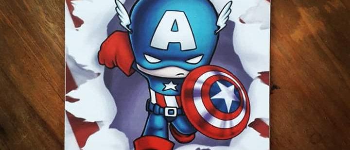 Placa Capitão América (Kids)