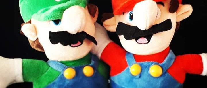 Pelúcia Mário e Luigi