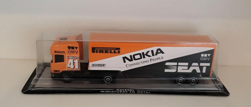 Miniatura Caminhão scania Nokia