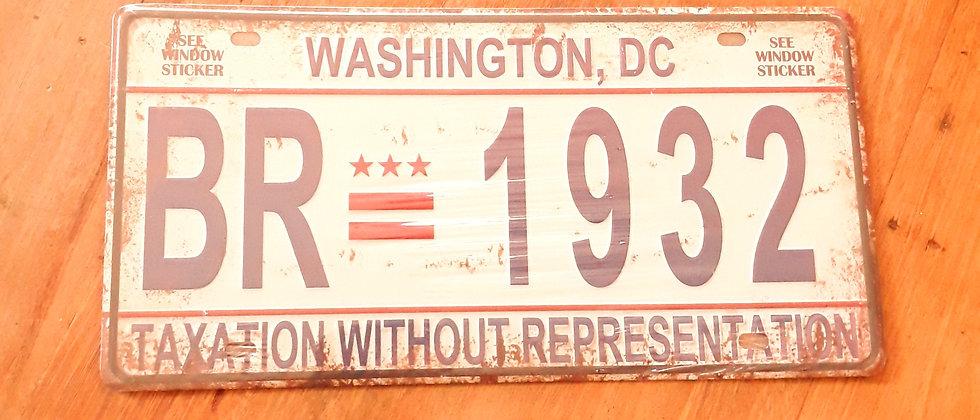 Placa de carro Washington ,DC